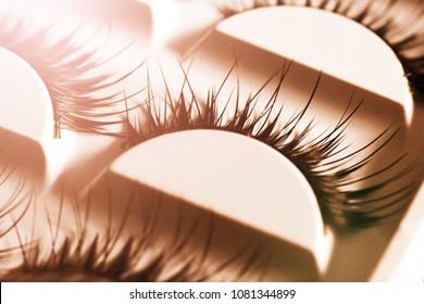 False lashes so close, macro, fashion object