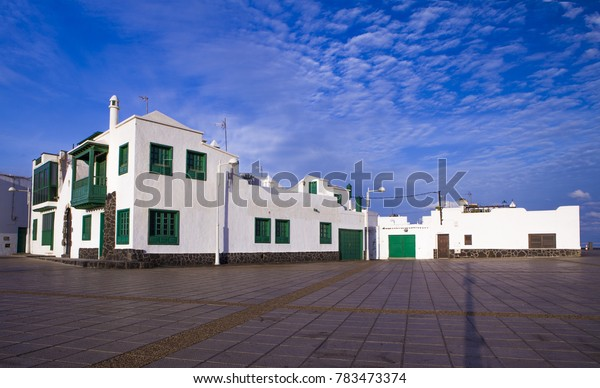 Famara, Lanzarote island. Atlantic ocean. Canary islands in Spain