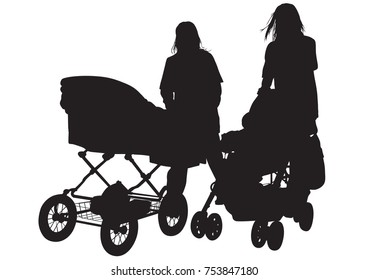 Families with child whit ball on white background