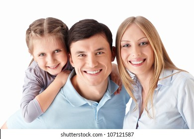 Families on a white background