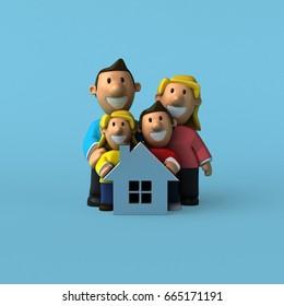 Family - 3D Illustration