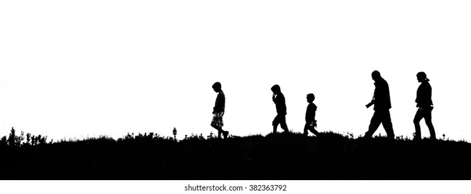 Family afternoon stroll