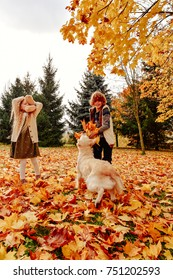 family in the autumn