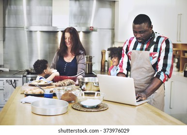 Family Bonding Activity Cooking Baking Concept