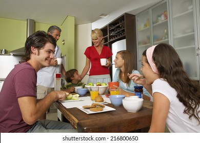 Family breakfast.