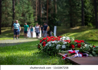 the family came to honor the memory of the deceased at the memorial, lay flowers and wreaths at the graves of the dead and buried people, peace and peace, the afterlife and tribute to Christian tradit