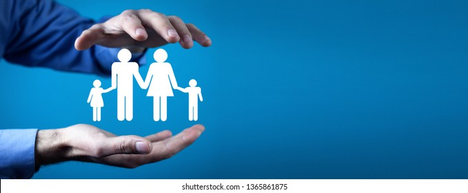 Family care and protection insurance concept.