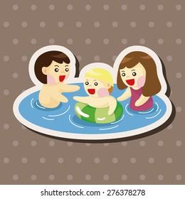 family , cartoon sticker icon