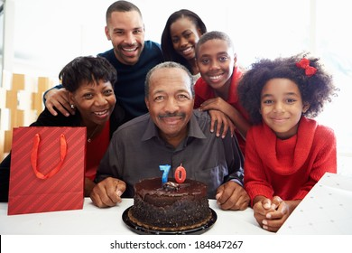 Family Celebrating 70th Birthday Together