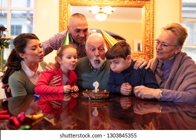 Family celebrating a special day enjoying every moment of it