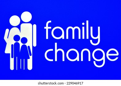 Family change sign and symbol abstract.
