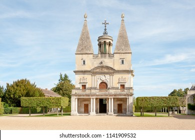 Family chapel of  medieval Chateau d'Anet near Dreux  in Normandy, France