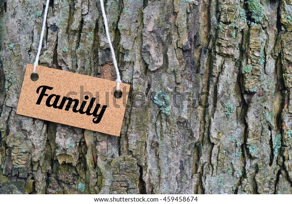 family concept with word written on sign. family reunion.