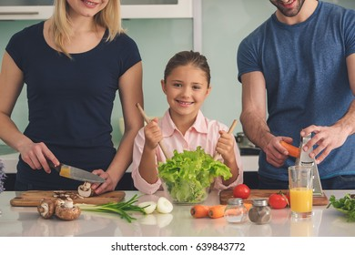 Family Cooking Meal Food Preparation Together Indoor