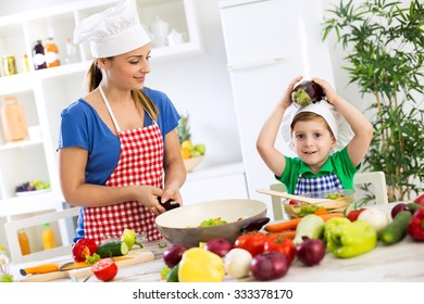 Family cooking time healthy food