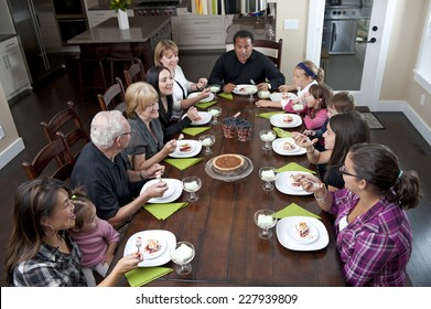 family dessert time / comes right after dinner time / let's chow down people
