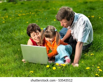 Family enjoy outdoors