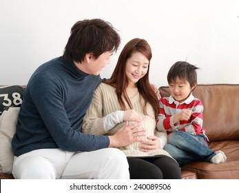 Family expecting new baby