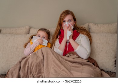 family flu season at home