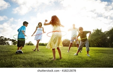 Family Fun Outdoors Playing Happiness Concept