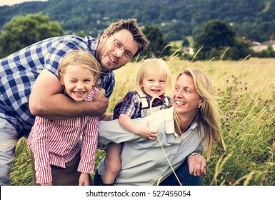 Family Generations Parenting Togetherness Field Nature Concept