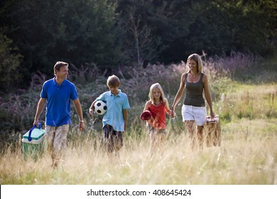 A family going on a picnic together