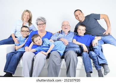 family, happiness, generation and people concept