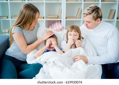 Family having allergy