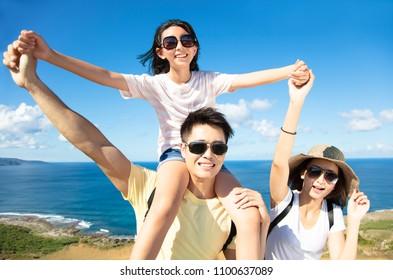 Family Having Fun at the coast