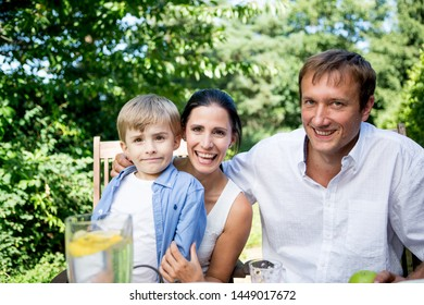 Family Having Good Time Outside