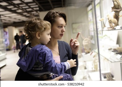 Family at historical museum in Moscow, Russia