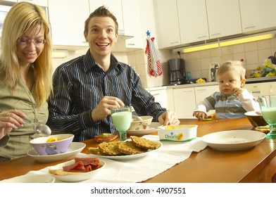 Family in the home