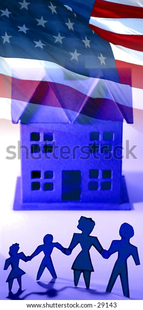 Family - Home - Country - Concept Photo