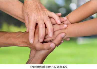 Family, Human Hand, Assistance.