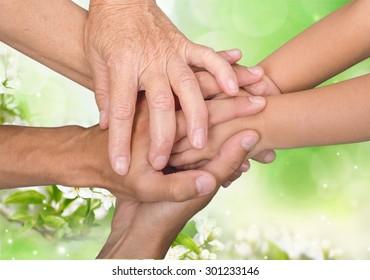 Family, Human Hand, Child.