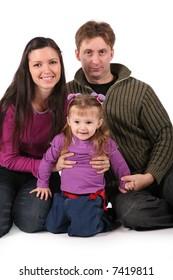 family isolated om white