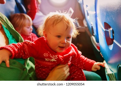 family with kids travel by plane, travel concept