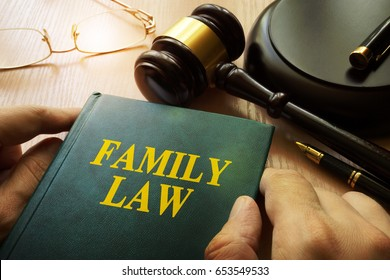 Family law on an office table.