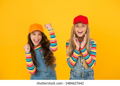 Family look. Stylish children. Universal childrens day. Promote international togetherness awareness among children worldwide and improving childrens welfare. Happy girls. Friendly and happy children.
