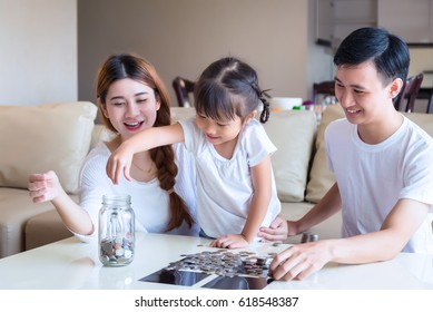 family money savings concept. Multi generations living lifestyle at home.
