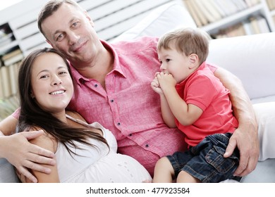 Family. Mother and dad with their son