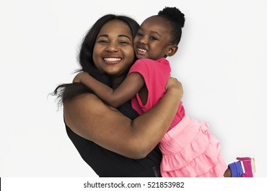 Family Mother Daughter Smiling Happiness Love Concept