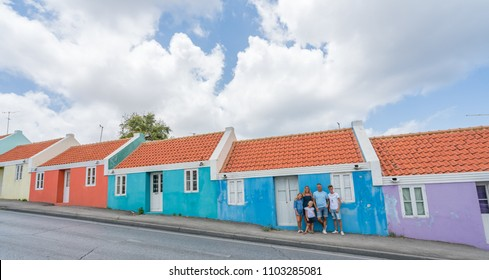 family on holiday   Views around the small Caribbean island of Curacao