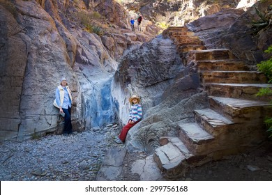 """Family on the path """"Window View Trail"""". Big Bend National Park, Texas"""