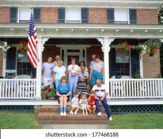 Family on porch, Rock Hall, E. Shore, Maryland