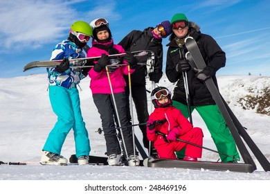 Family on the ski vacation
