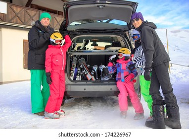 Family on the winter vacation