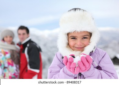 family on a winter vacation
