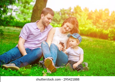 family outdoor - enjoying the summer life together