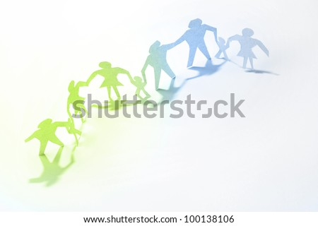 Family Paper Doll Cutouts Stock Photo Edit Now 100138106